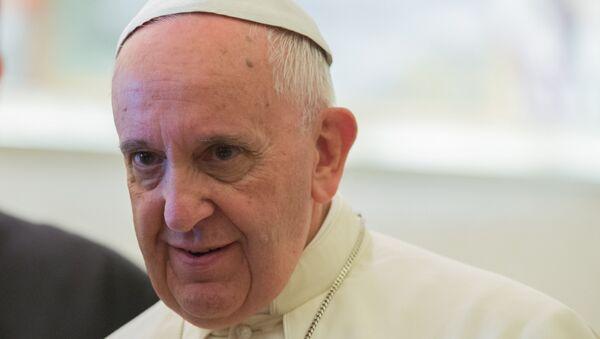Папа римский Франциск. Архивное фото - Sputnik Узбекистан
