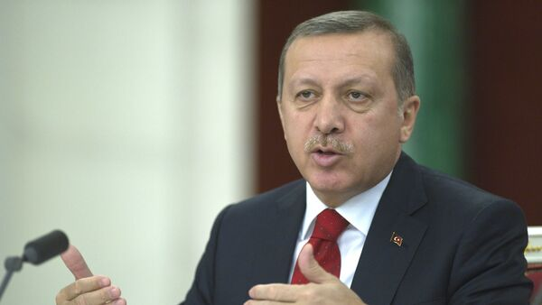 Turkiya prezidenti Rajab Toyib Erdoʻgʻon - Sputnik Oʻzbekiston