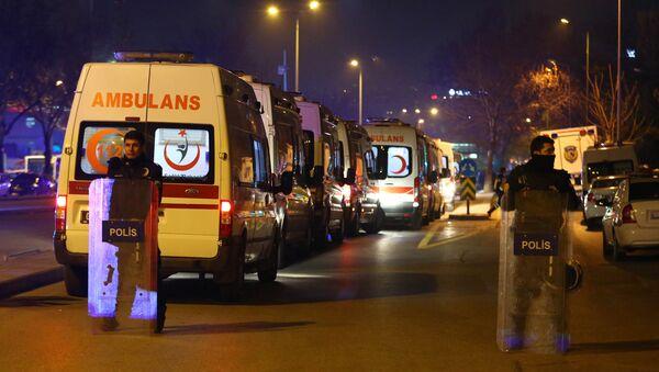 На месте теракта в Турции - Sputnik Ўзбекистон