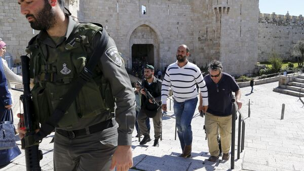 Израильский полицейский - Sputnik Ўзбекистон