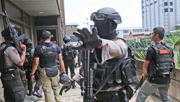 Полиция в Индонезии - Sputnik Ўзбекистон