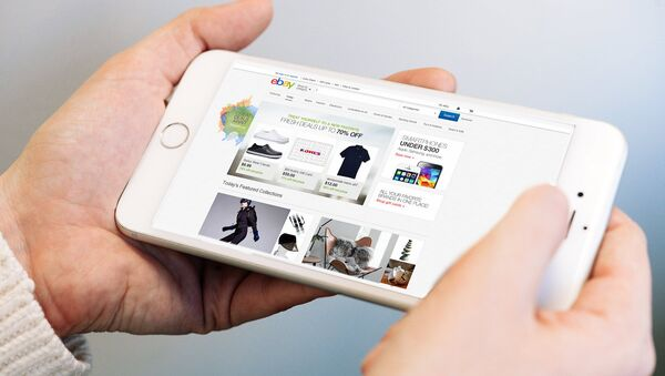 Sayt Ebay na ekrane telefona - Sputnik Oʻzbekiston