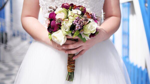 Свадебный букет невесты - Sputnik Ўзбекистон