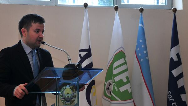 Пресс-секретарь Федерации футбола Узбекистана Санджар Ризаев - Sputnik Узбекистан
