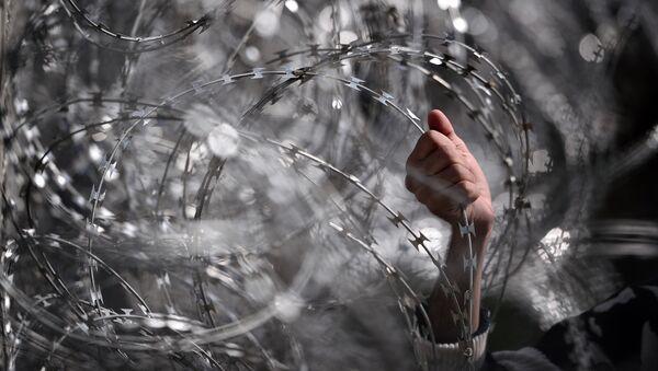 Колючая проволока на границе - Sputnik Узбекистан