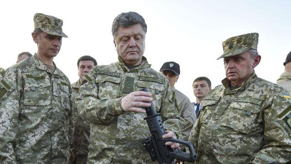Ukraina prezidenti P. Poroshenko - Sputnik Oʻzbekiston