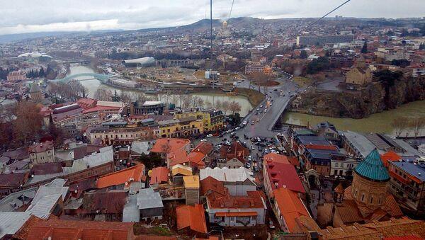 Вид на Тбилиси с высоты птичьего полета - Sputnik Узбекистан