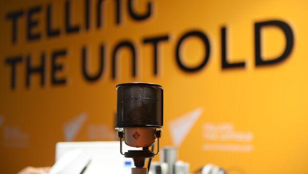 В студии радио Sputnik - Sputnik Узбекистан