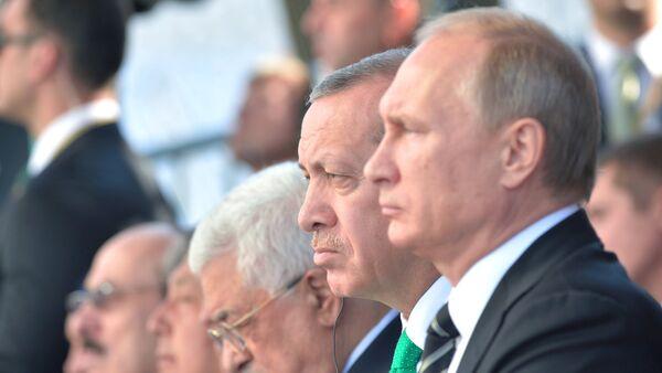 Россия президенти В. Путин ва Туркия раҳбари Эрдўғон - Sputnik Ўзбекистон
