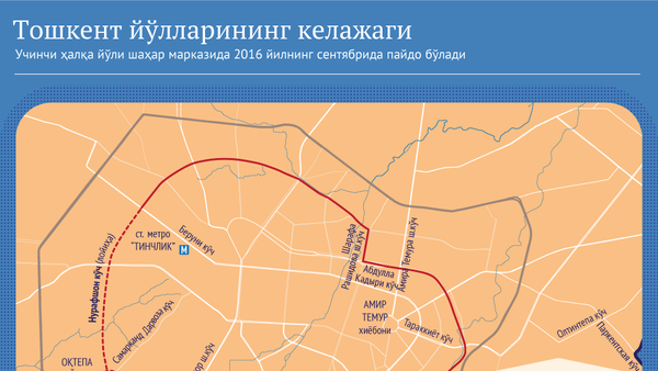 Toshkent Uchinchi halqa yoʻli - Sputnik Oʻzbekiston