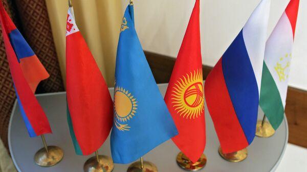 Флаги стран участниц Шанхайской организации сотрудничества - Sputnik Узбекистан