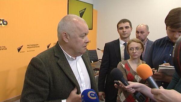 Kiselev: tanqid - mening vazifam emas - Sputnik Oʻzbekiston