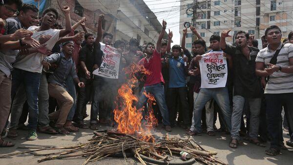 Bangladeshda ID tomonidan jurnalistlar oʻldirilishiga qarshi miting - Sputnik Oʻzbekiston