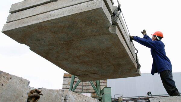 Работа Комбината строительных материалов - Sputnik Узбекистан