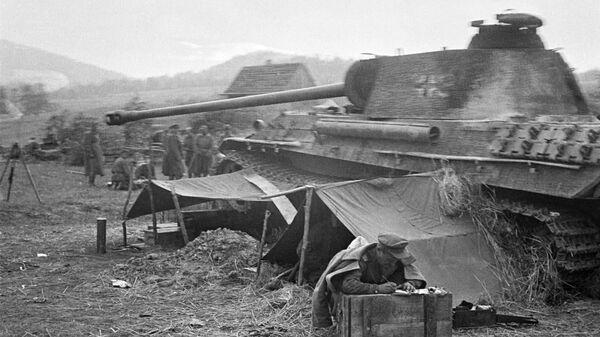 Подбитый немецкий танк Тигр - Sputnik Узбекистан