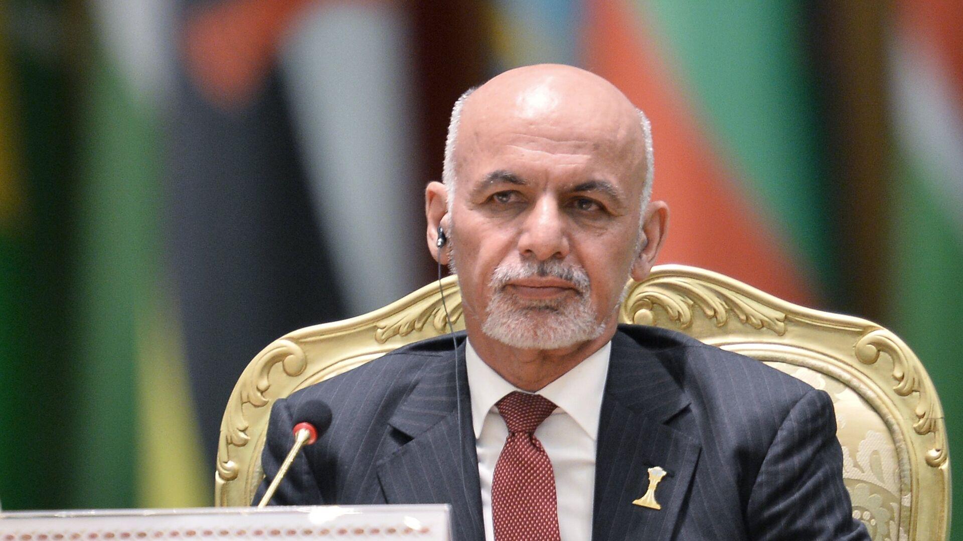 Prezident Afganistana Moxammad Ashraf Gani  - Sputnik Oʻzbekiston, 1920, 14.08.2021