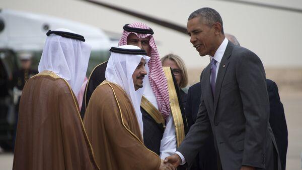 Саудия Арабистонида Барак Обамани Эр-Рияд ҳокими кутиб олди - Sputnik Ўзбекистон