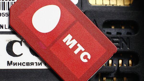 Сим-карта с логотипом оператора сотовой связи МТС - Sputnik Ўзбекистон
