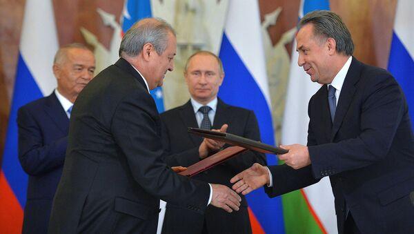 Подписание документов между Узбекистаном и Россией - Sputnik Ўзбекистон