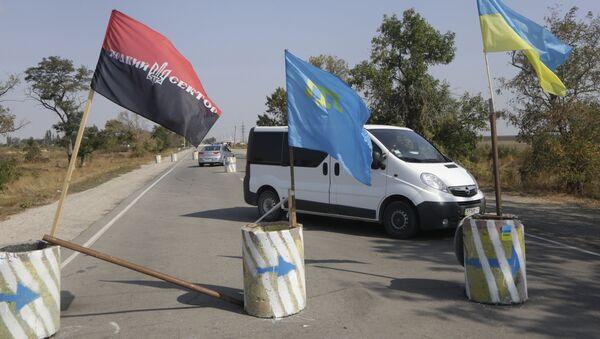 Ситуация на границе Украины и Крыма - Sputnik Ўзбекистон