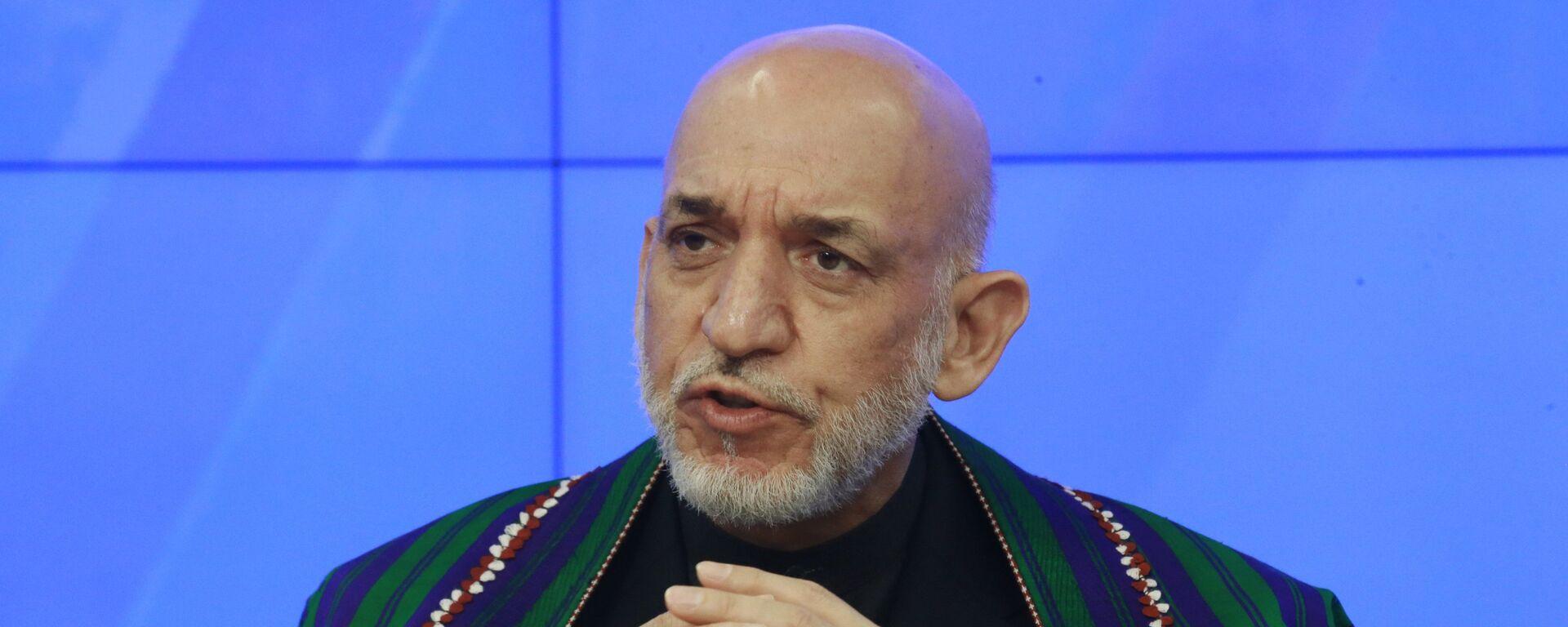 Экс-президент Исламской республики Афганистан Хамид Карзай - Sputnik Узбекистан, 1920, 11.06.2019