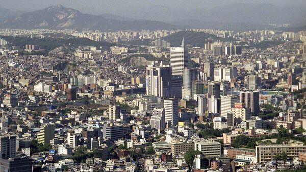 Вид на город Сеул с горы Намсан - Sputnik Ўзбекистон