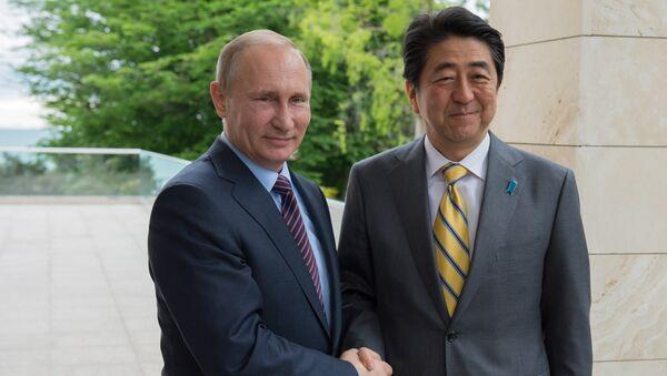 Встреча президента РФ В. Путина с премьер-министром Японии Синдзо Абэ - Sputnik Узбекистан