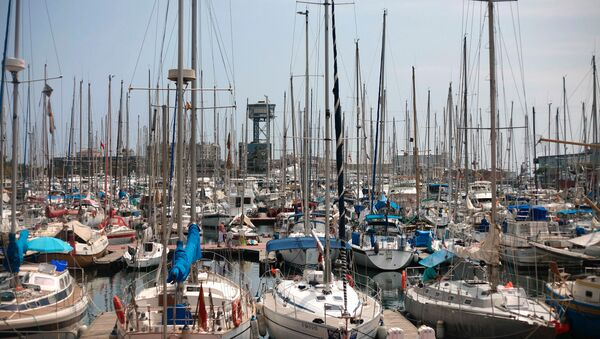 Гавань для яхт в портовом районе Барселоны, Испания - Sputnik Узбекистан