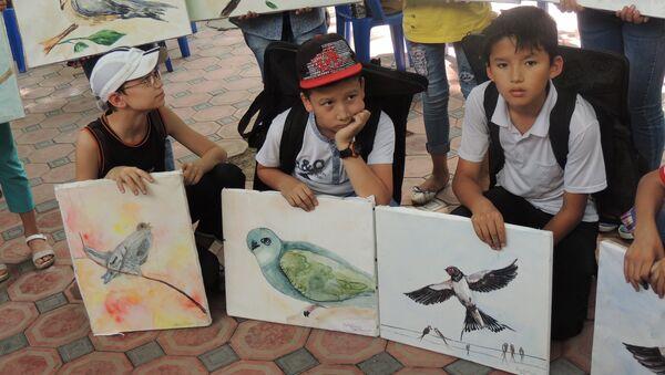 Конкурс детского рисунка в Ташкентском зоопарке - Sputnik Узбекистан