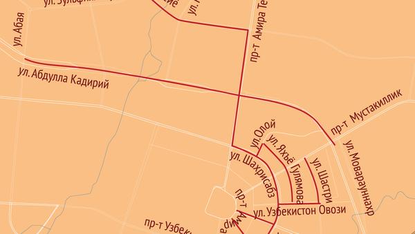 Тошкент харитаси - Sputnik Ўзбекистон