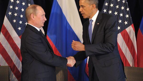 Rossiya prezidenti V. Putin va AQSH prezidenti B. Obama uchrashuvi - Sputnik Oʻzbekiston