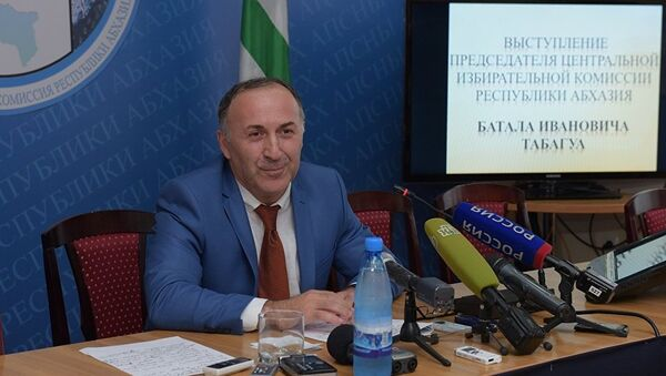 Batal Tabagua - Abxaziya saylov komissiyasi raisi - Sputnik Oʻzbekiston