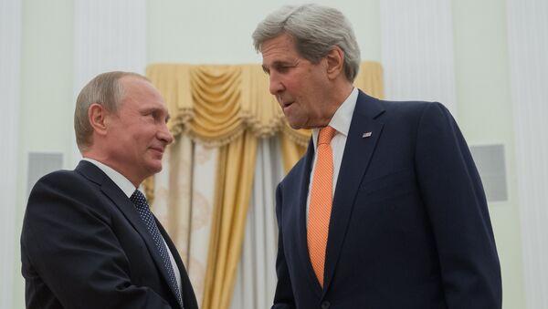 Rossiya prezidenti V. Putinning AQSH Davlat kotibi J. Kerri bilan ishchi uchrashuvi - Sputnik Oʻzbekiston