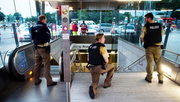 Großeinsatz der Polizei in München - Sputnik Ўзбекистон