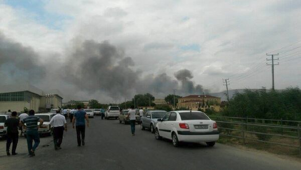 Мощный взрыв на заводе телемеханики Араз Министерства оборонной промышленности АР - Sputnik Узбекистан