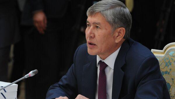 Almazbek Atambayev - Sputnik Oʻzbekiston
