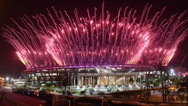 Церемония открытия XXXI летних Олимпийских игр в Рио-де-Жанейро - Sputnik Ўзбекистон