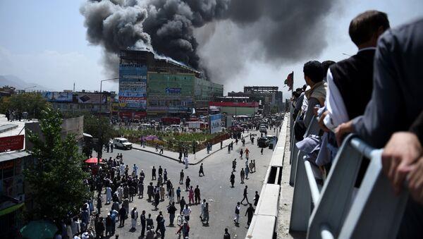 Vzrыv v torgovom tsentre v Kabule (Afganistan) - Sputnik Oʻzbekiston