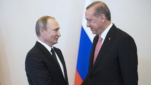 Vstrecha prezidentov Rossii i Turtsii V. Putina i R. Erdogana - Sputnik Oʻzbekiston