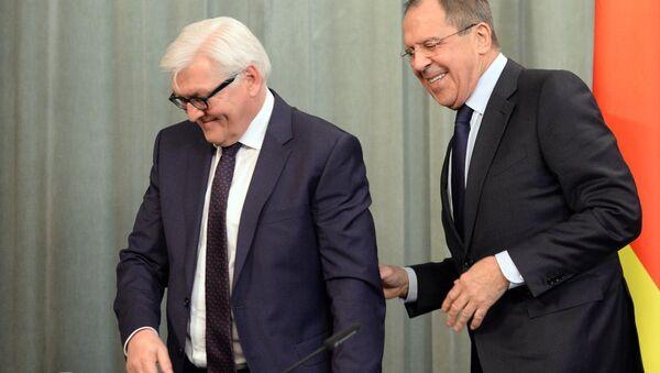 Встреча глав МИД РФ и Германии С. Лаврова и Ф. Штайнмайера - Sputnik Узбекистан