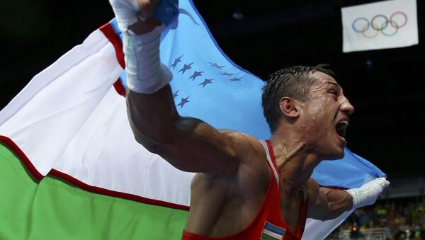 Олимпийский чемпион Рио по боксу Фазлиддин Гаипназаров - Sputnik Узбекистан