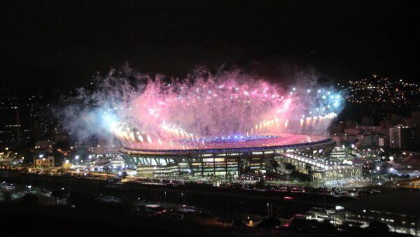 Рио-де-Жанейрода ўтказилган ёпилиш маросими давомида отилган байрамона салют - Sputnik Ўзбекистон