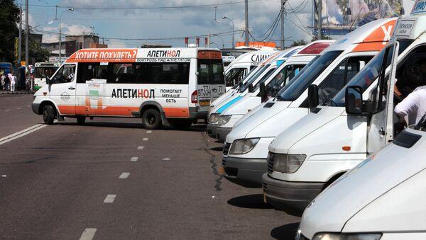Rabota marshrutnыx taksi v Moskve - Sputnik Oʻzbekiston