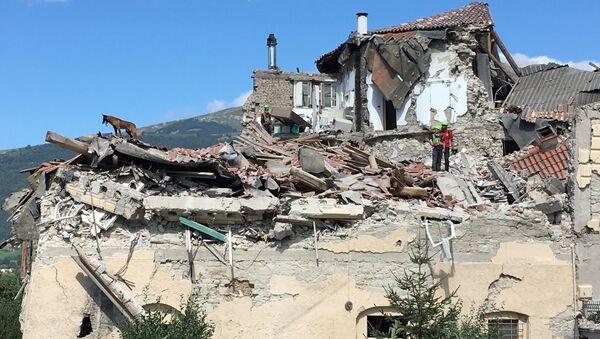 Последствия землетрясения в Италии - Sputnik Узбекистан