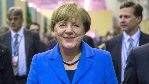 Федеральный канцлер Германии Ангела Меркель на всемирной конференции ООН по климату - Sputnik Ўзбекистон