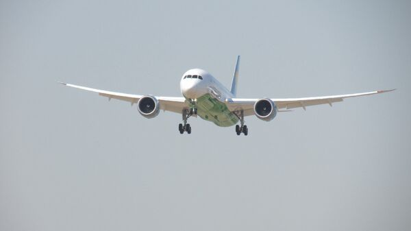 Торжественная встреча нового Boeing 787 Dreamliner в Ташкенте - Sputnik Узбекистан
