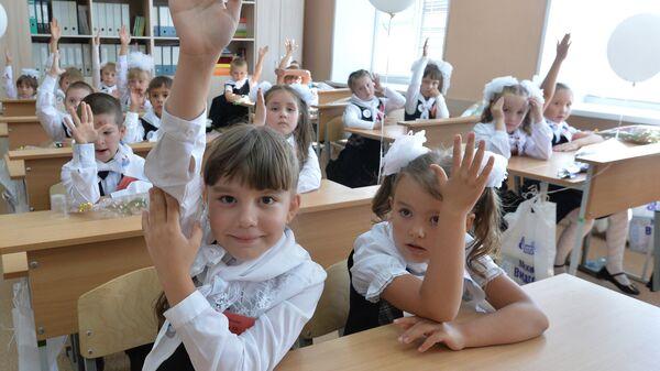 Начало учебного года в школах России - Sputnik Ўзбекистон