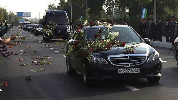 Траурный кортеж с телом президента Узбекистана Ислама Каримова - Sputnik Ўзбекистон