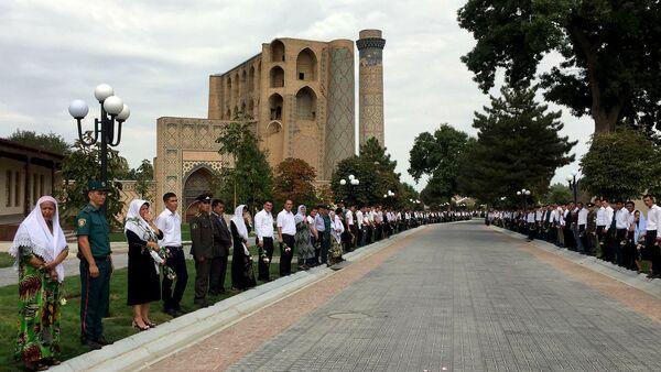Церемония прощания с Исламом Каримовым в Самарканде - Sputnik Узбекистан