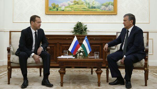 Rossiya bosh vaziri D.Medvedev va Oʻzbekiston bosh vaziri SH.Mirziyoyev - Sputnik Oʻzbekiston